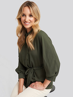 Trendyol Waist Binding Detailed Shirt grön