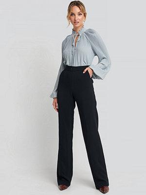Trendyol svarta byxor Straight Leg Pants blå