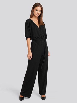 Jumpsuits & playsuits - NA-KD Party Kimono Sleeve Lurex Jumpsuit svart