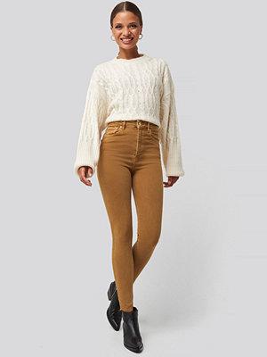 Trendyol Tobacco High Waist Skinny Jeans beige