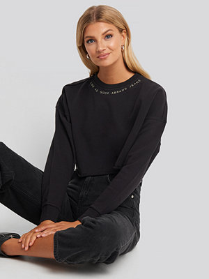 Abrand A Cropped Oversized Sweater svart