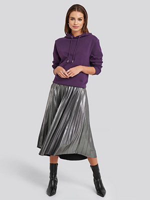 NA-KD Party Midi Pleated Skirt silver