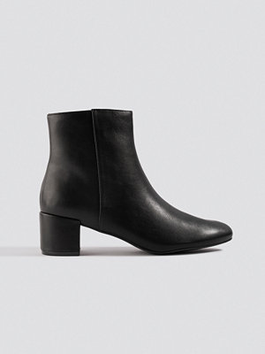 NA-KD Shoes Soft Low Heel Booties svart