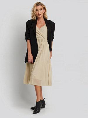 Festklänningar - Mango Lurik-X Dress beige guld
