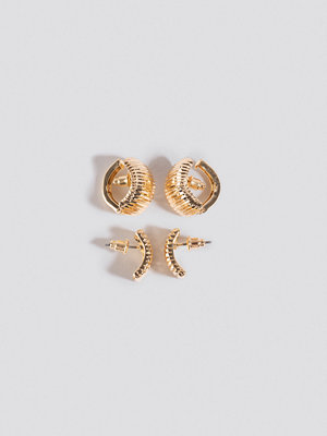 NA-KD Accessories smycke Double Pack Vintage Clip Earrings guld