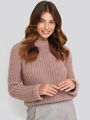 NA-KD Round Neck Chunky Sweater rosa