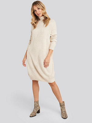 Trendyol Turtleneck Knitted Dress beige