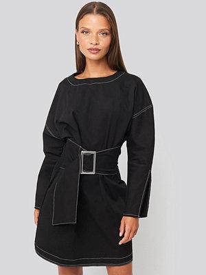 Festklänningar - Trendyol Mini Front Belted Dress svart