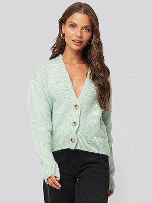 Cardigans - NA-KD Trend Cropped Oversized Cardigan grön