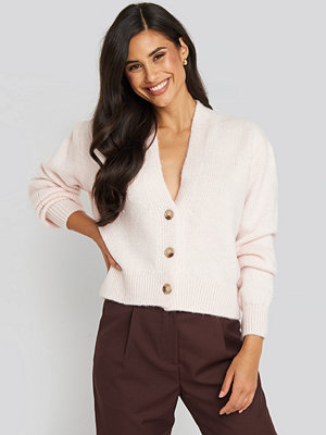 Cardigans - NA-KD Trend Cropped Oversized Cardigan rosa