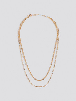NA-KD Accessories smycke Layered Fine Chain Necklaces guld