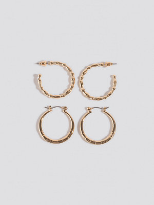 NA-KD Accessories smycke Mixed Detailed Hoop Earrings guld