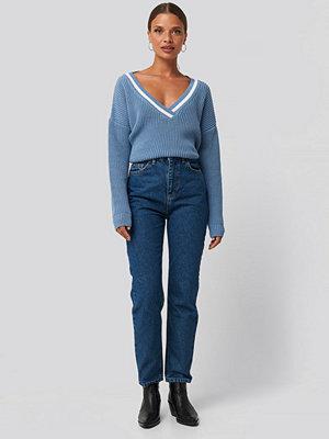 Jeans - Trendyol Basic High Waist Mom Jeans blå