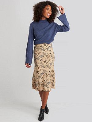 Kjolar - NA-KD Trend Satin Skirt beige