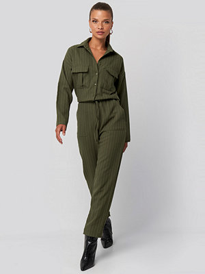 Trendyol Binding Detailed Jumpsuit grön