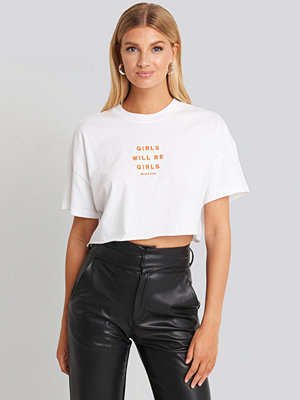 Abrand A Cropped Oversized Tee vit