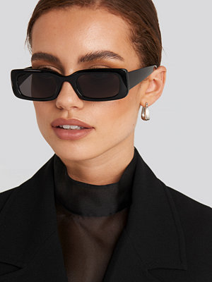 NA-KD Accessories Wide Retro Look Sunglasses svart