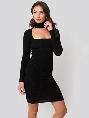 Festklänningar - NA-KD Party Cut Out Lurex Mini Dress svart