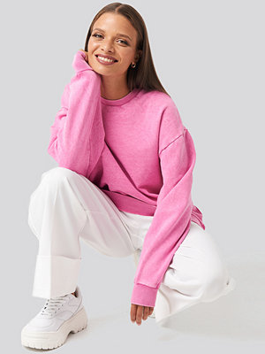 NA-KD Oversized Washed Sweatshirt rosa