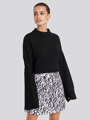 NA-KD Party High Waist A-Line Skirt vit