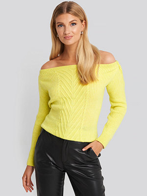 Trendyol Off Shoulder Knitted Sweater gul
