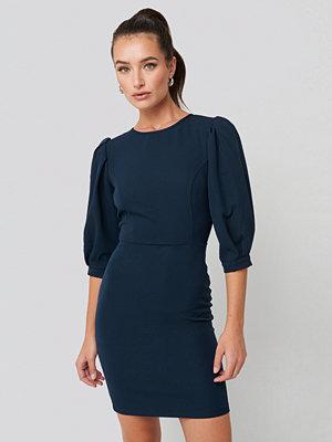 Trendyol Puff Sleeve Detailed Mini Dress blå