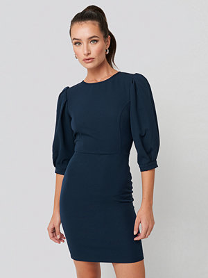 Festklänningar - Trendyol Puff Sleeve Detailed Mini Dress blå