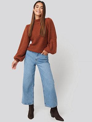 Trendyol High Waist Culotte Jeans blå