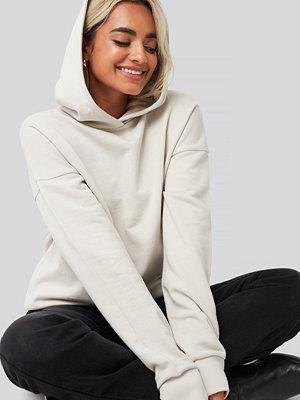 NA-KD Basic Basic Wide Hoodie beige
