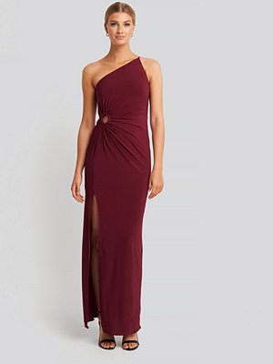 Festklänningar - Trendyol Waist Detail Draped Evening Dress röd