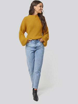 Jeans - Trendyol Washed High Waist Mom Jeans blå