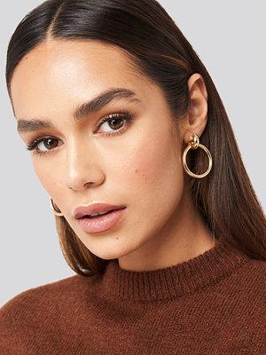 Hanna Weig x NA-KD smycke Connected Hoop Earrings guld