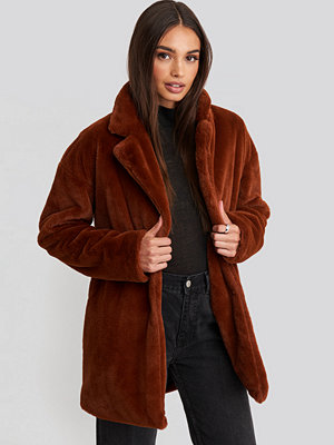 Rut & Circle Tyra Faux Fur Jacket brun