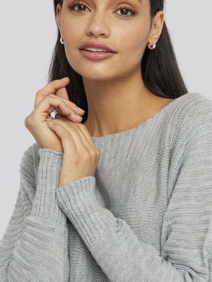 Trendyol Boat Neck Sweater grå