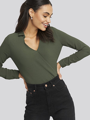 Tunikor - Trendyol V-Neck Collar Blouse grön