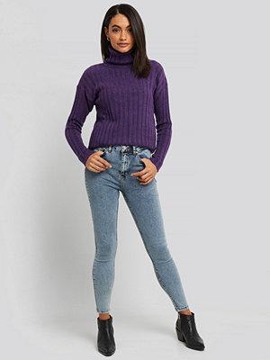 Jeans - Trendyol Yol High Waist Jeans blå