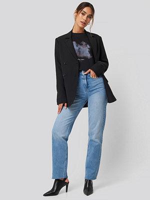 Jeans - Queen of Jetlags x NA-KD High Waist Denim blå