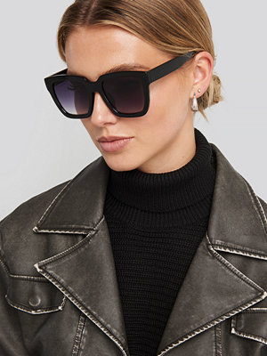 NA-KD Accessories Squared Oversized Sunglasses svart