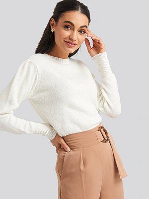 NA-KD Puff Sleeve Sweater vit