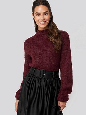 NA-KD Trend Round Neck Oversized Knitted Sweater röd