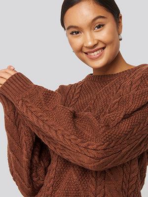 Trendyol Oil Knitting Detail Sweater brun