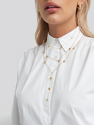 NA-KD Accessories smycke Star Detail Drop Chain Necklace guld
