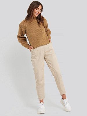 Trendyol omönstrade byxor Binding Detailed Trousers beige