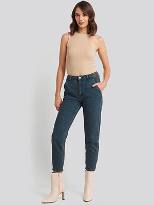 Trendyol Chino Pocket High Waist Mom Jeans blå