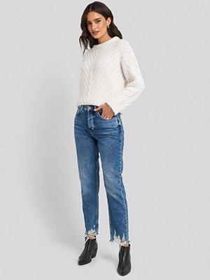 Jeans - Mango Brokens Jeans blå