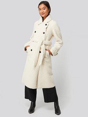 Mango Fuzzy Coat beige