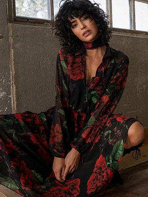 NA-KD Trend Drawstring Chiffon Midi Dress multicolor
