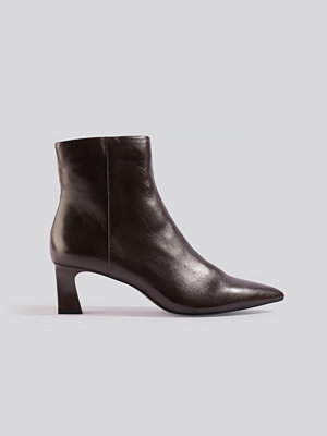 Mango Inky Ankle Boots brun