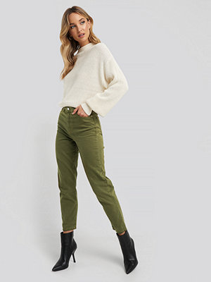 Trendyol High Waist Mom Jeans grön