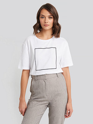 NA-KD Square Oversized T-shirt vit